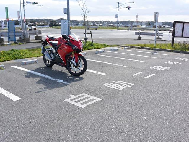 千葉の道の駅にて。バイク駐車場事情~しばコラ~